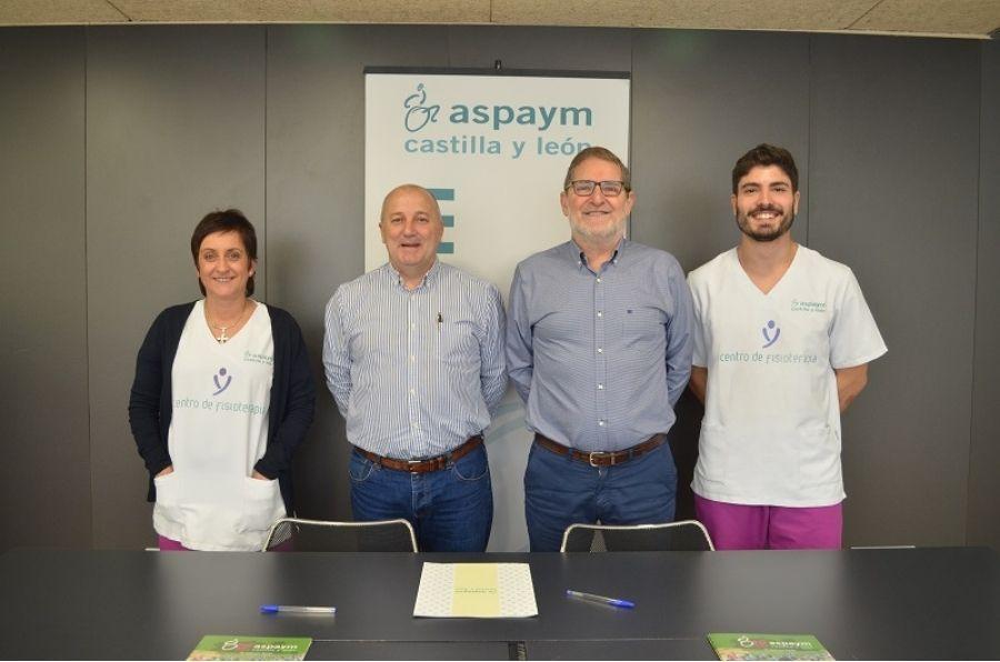 Representantes de ASPAYM CyL y del Club Deportivo Parquesol firman un acuerdo de colaboración