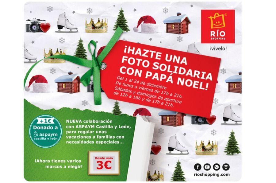 """Díptico publicitario """"Hazte una foto solidaria con Papá Noel"""""""