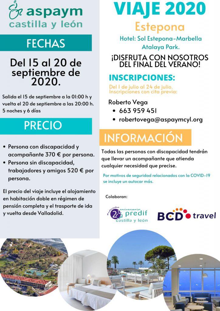 cartel viaje socios 2020