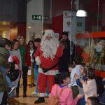 Papá Noel visita las instalaciones de ASPAYM Castilla y León