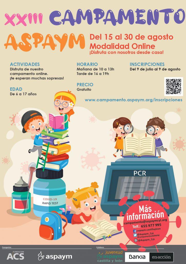 Poster del Campamento Online ASPAYM 2020