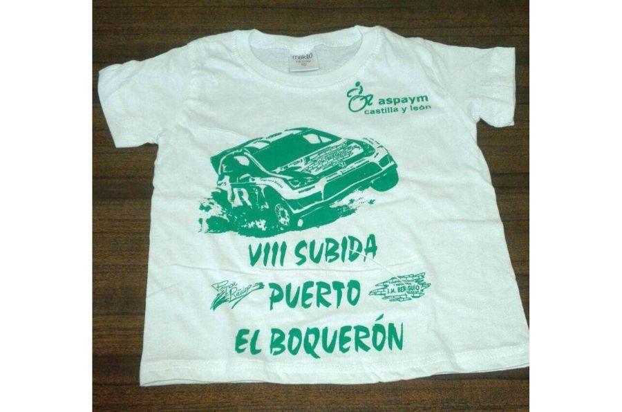 """Camiseta con el texto """"VIII Subida puerto El Boquerón"""""""