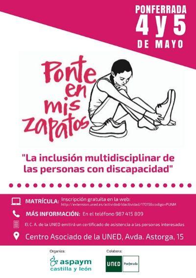 Cartel de la jornada Ponte en mis zapatos para alumnos de la UNED en León