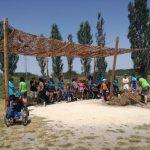 El Campamento Urbano de Ocio Inclusivo de ASPAYM en Burgos visita Atapuerca