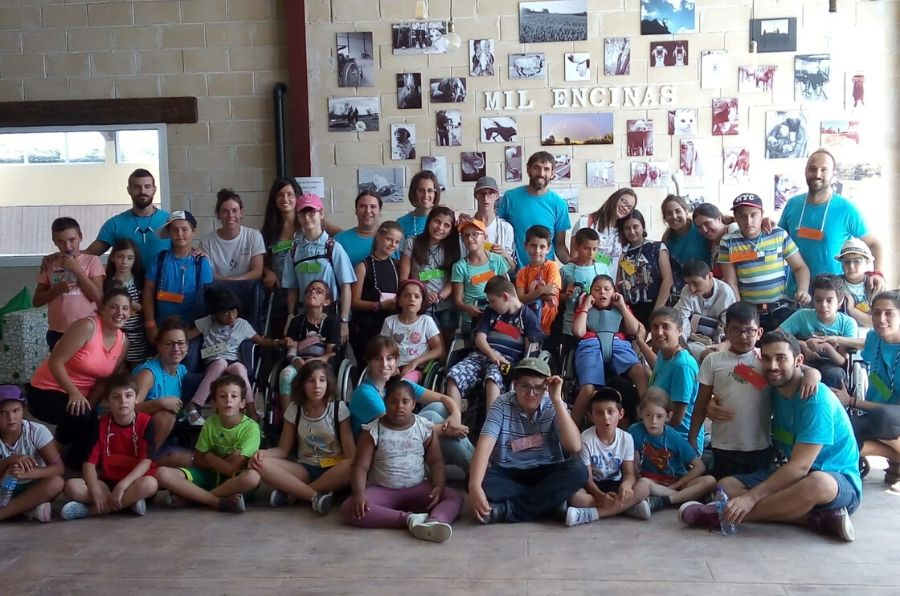 Participantes del Campamento Urbano de ocio inclusivo de Burgos