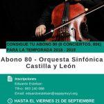 Disponible el Abono 80 - Orquesta Sinfónica Castilla y Léon