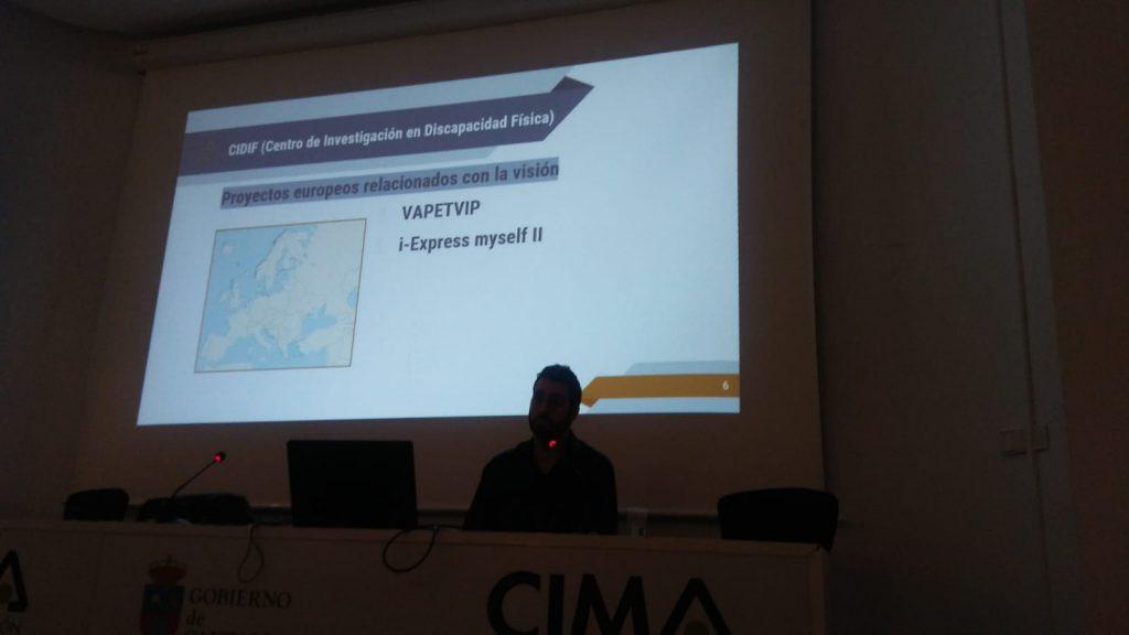 Jaime Finat en la conferencia del CIDIF