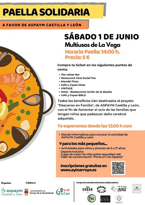 Cartel de la Paella Solidaria