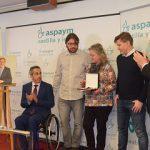 """Juan Vicente Herrera entrega la primera Medalla de Oro """"ASPAYM Castilla y León """"a Julio Herrero Bermejo"""