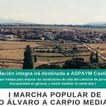 I Marcha Popular en Diego del Carpio a favor de ASPAYM Castilla y León