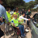 Personas con Lesión Medular de Valladolid, Burgos y Ávila conciencian a los conductores en los diferentes controles de velocidad