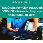 Modificación de las bases de las BECAS 2019 para la obtención y renovación del carné de conducir