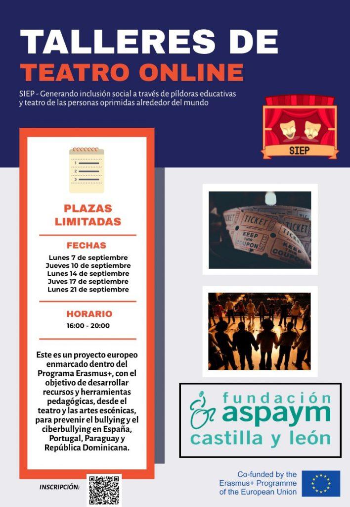 Cartel de los talleres de teatro online