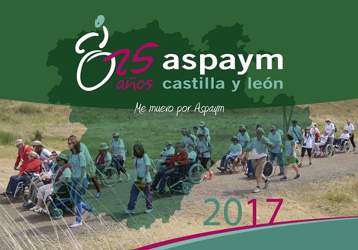 portada del programa del aniversario de ASPAYM