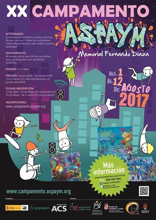 Cartel Campamento ASPAYM