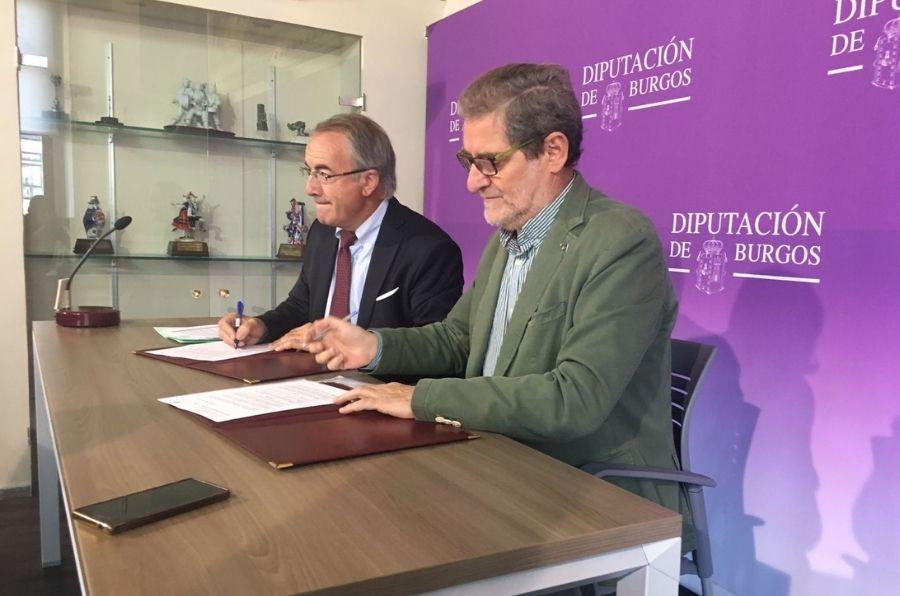 Firma del convenio para implantar FISIOMER Villadiego, Burgos