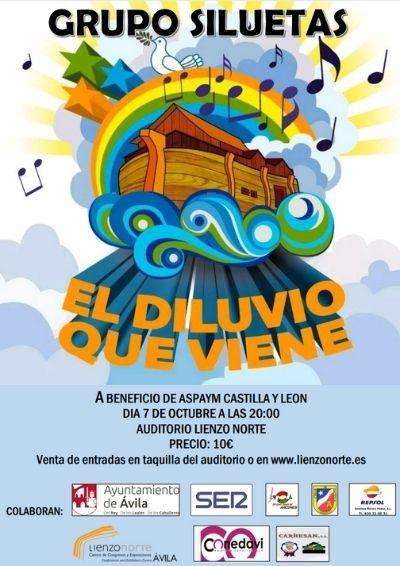 """Cartel del musical """"El diluvio que viene"""""""