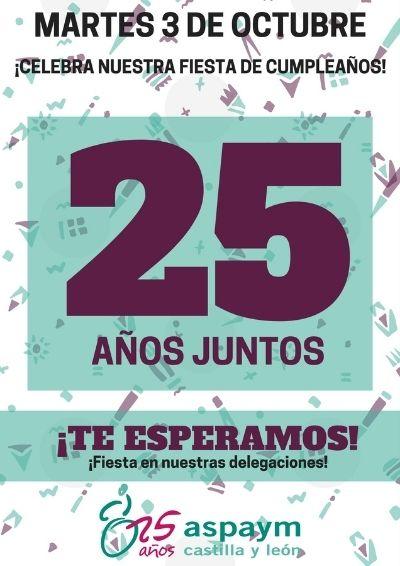 Martes 3 octubre Celebra nuestro 25 aniversario