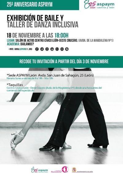 Cartel Exhibición de baile y taller de danza inclusiva