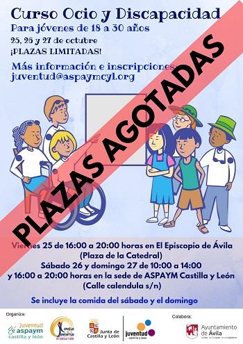 Cartel del Curso de Ocio y Discapacidad de Ávila 2019