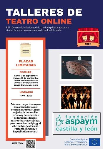 Cartel talleres Online proyecto SIEP
