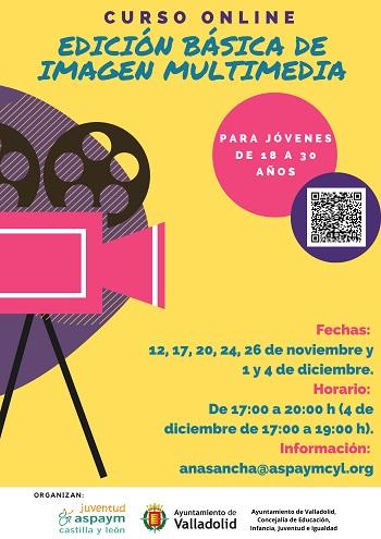 Cartel Curso online: Edición básica de imagen multimedia
