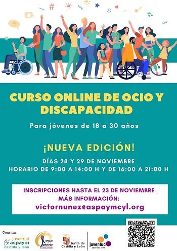 Cartel Curso Online Ocio y Discapacidad