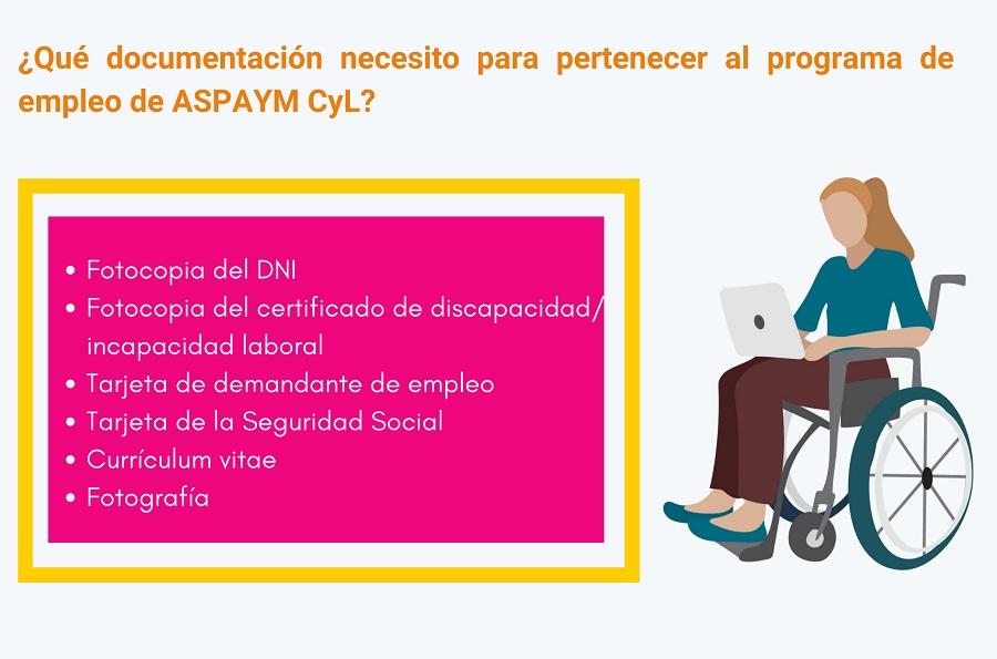 Tarjeta informativa sobre el programa de Empleo