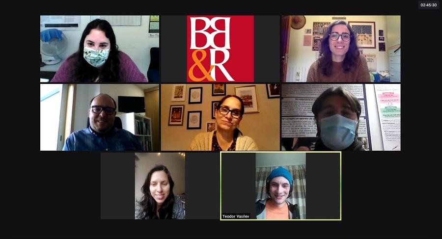 Captura de pantalla de la reunión del proyecto
