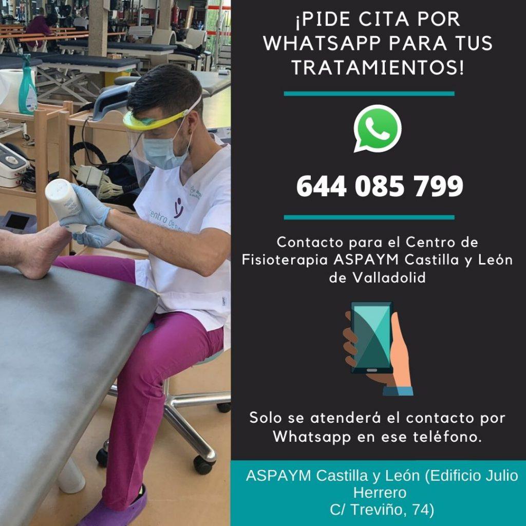 Solicitud de citas por Whatsapp al teléfono 644 085 799 para el gimnasio de Valladolid
