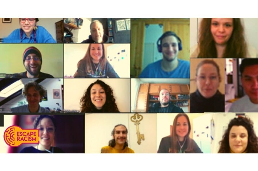 Captura de pantalla de la reunión online del proyecto