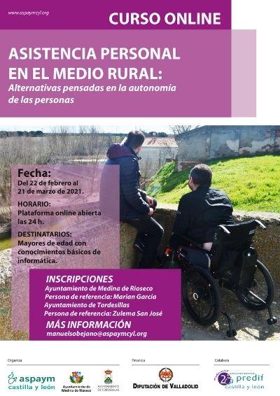 Cartel del curso online Asistencia Personal en el Medio Rural