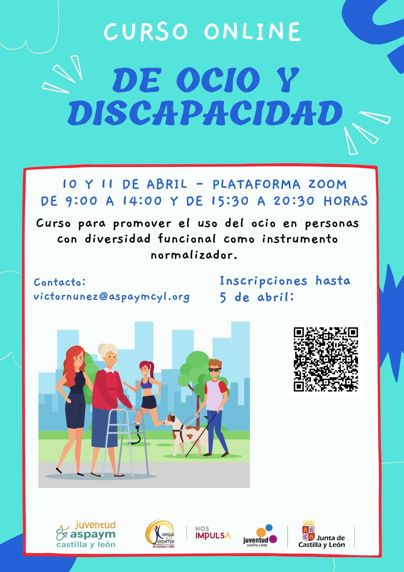 Cartel del Curso de Ocio y Discapacidad