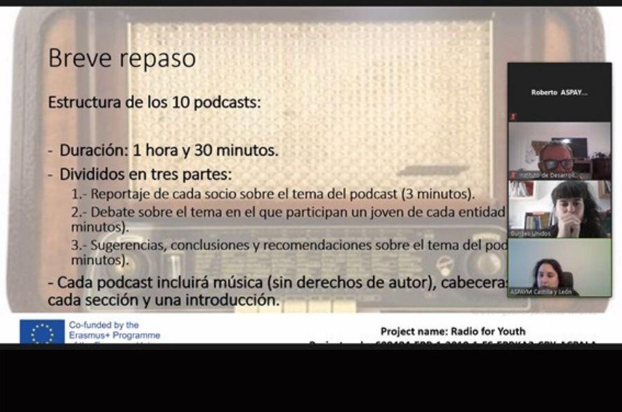 Presentación de la reunión del proyecto Radio for Youth