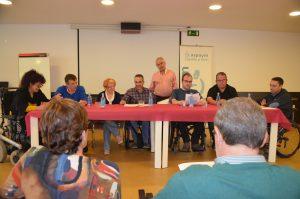 representantes de ka junta directiva de aspaym en reunión