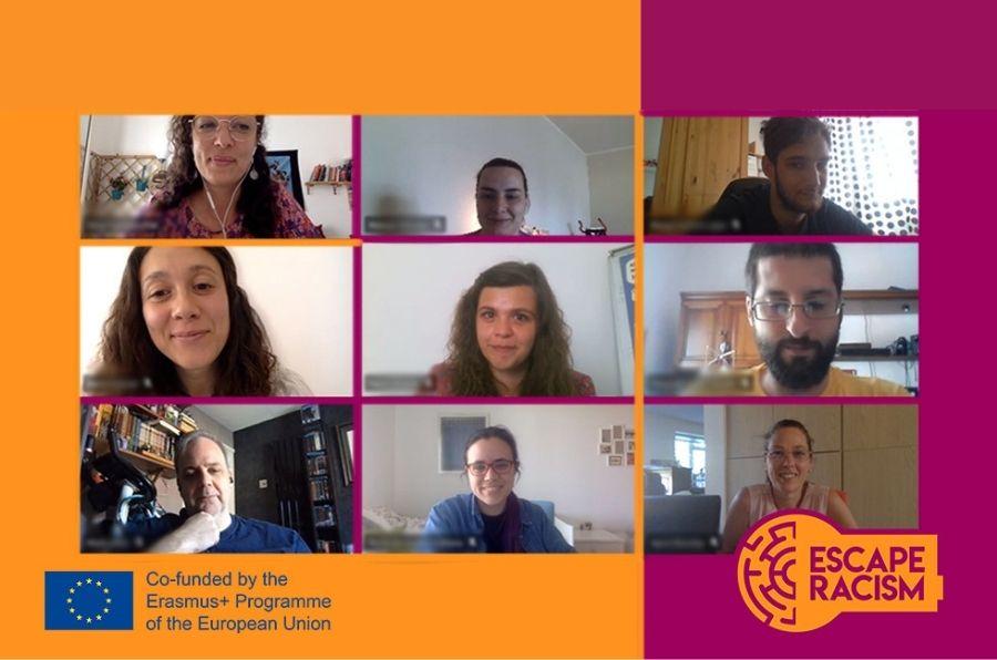 Los socios participantes del proyecto europeo Escape Racism en la tercera reunión online