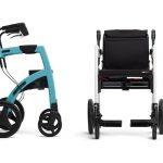 imagen de la silla andador en la que se aprecia las diferentes posiciones que tiene