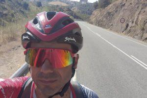 Guillermo en una parada de la etapa