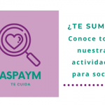 ASPAYM te cuida llega para ofrecer a socios y empleados un espacio de conocimiento y salud