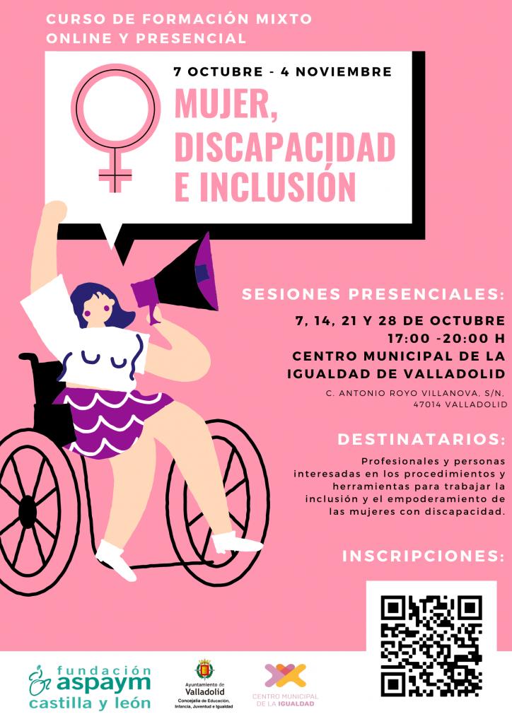 Cartel Curso Mujer Discapacidad e Inclusión