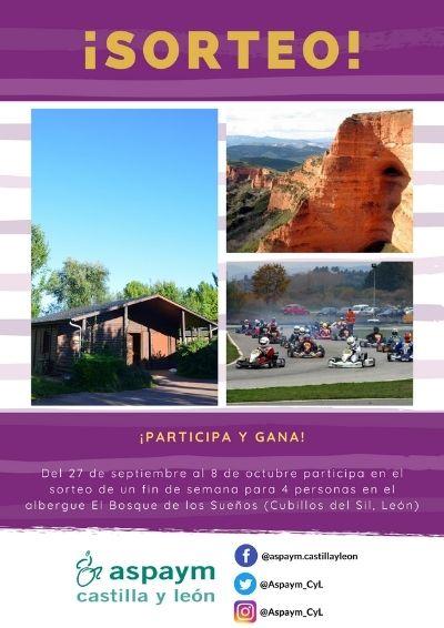 Cartel del sorteo de un fin de semana en el Bosque de los Sueños por el aniversario de la delegación de Ávila
