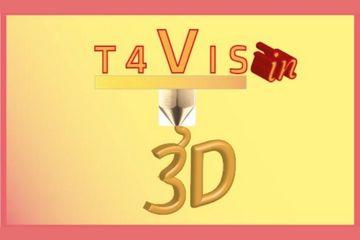 Logotipo del proyecto financiado por Erasmus Plus, T4VIS-In3D